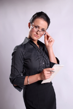 Secretary with glasses Stock Photo