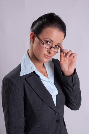 Secretary with glasses Stock Photo