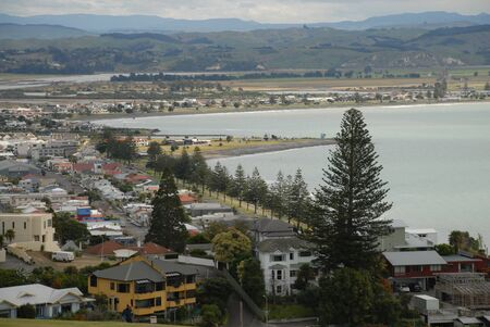 West Shore Bay View Napier Stock Photo