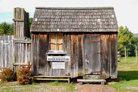 pioneers: Pioneers Cottage Onga Onga Stock Photo