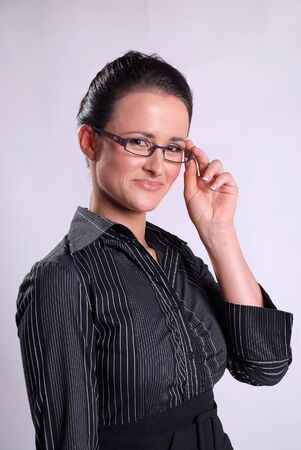 Young bussiness woman with glasses Stock Photo - 17464252
