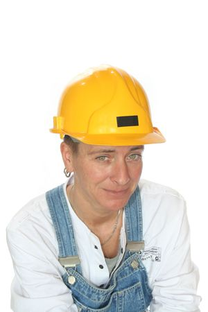 hobbyist: Woman with safety helmet
