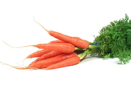 a bunch of carrots on a white background Stock Photo - 6454581