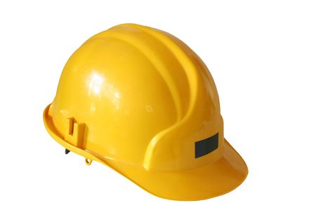 safety helmet: hart hat before a white background Stock Photo