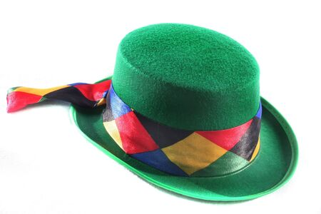circuses: colorful hat on a white background