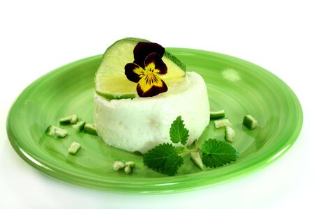 overthrown: Lemon mousse with fresh lime and blossom