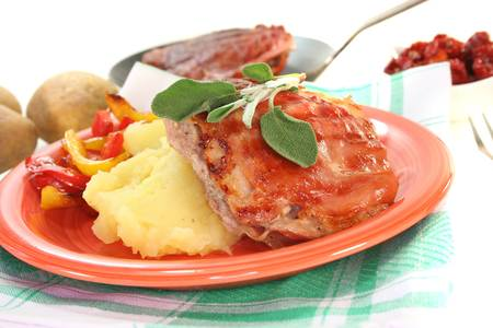 Saltimbocca of veal with bacon, sage and dried tomatoes Stock Photo - 8920544