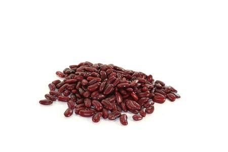 punhado: a handful of Kidney beans on white background Banco de Imagens