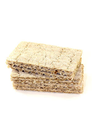deliberately: small stack of crispbread on a light background