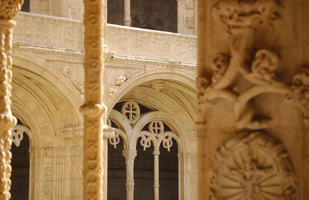arcs: arcs in monastery of jer�nimos in belem, lisbon