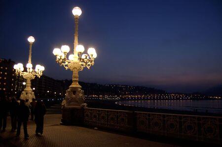 typical streetlight in San Sebastian Stock Photo - 726091