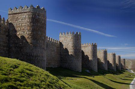 védekező: Avila, in spain, wall and defensive towers