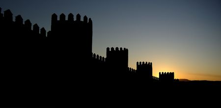 Avila, in spain, wall and defensive towers