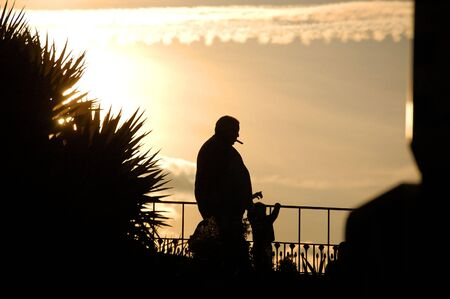 Smoker silhouette Stock Photo - 842167