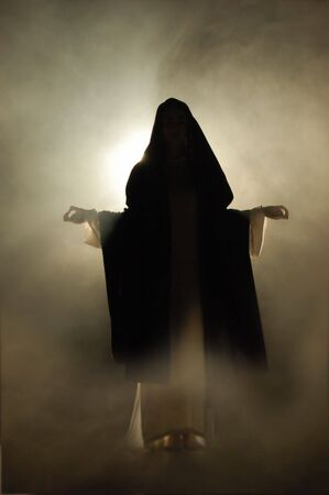 coran: Virgin Mary appearance in a mystical atmosphere.