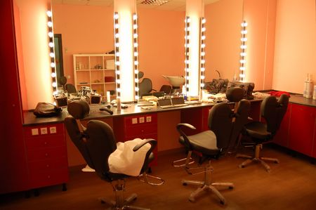 news room: Room of make up Stock Photo