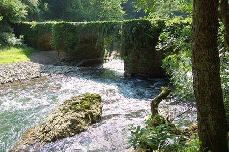Puente de las Brujas (Bridge of the Witches). Leitzaran Valley, Navarra. Spain