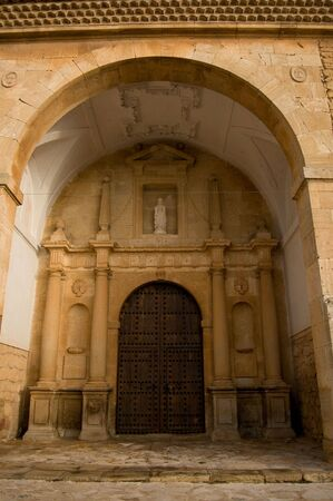 cited: San Antonio Abad church in El Toboso. Spain. Plateresque church. Cited in Quijote
