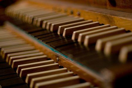 Classic organ keyboard in choir