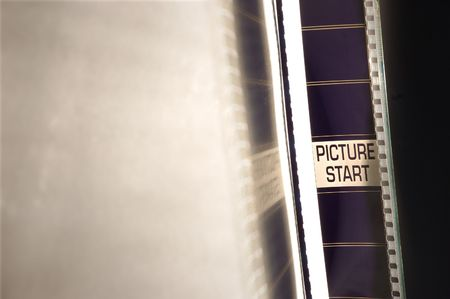 Picture start in a film negative