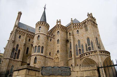 episcopal: Episcopal Palace Gaudi of Astorga. Spain Stock Photo