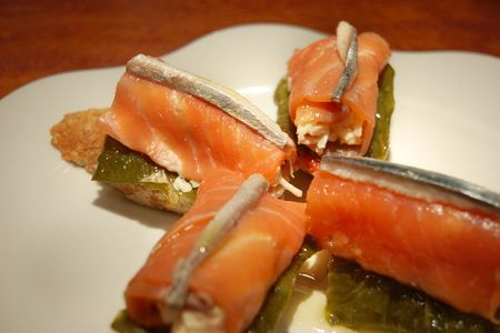 Typical Pintxo from San Sebastian. Guipuzcoa, Spain