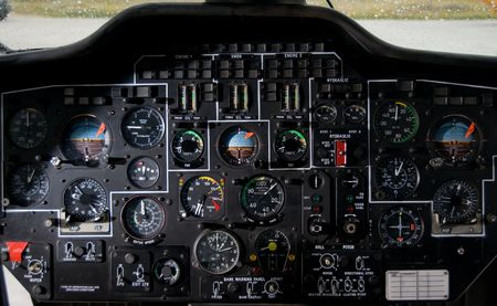 avionics: Helicopter instrument and control panel