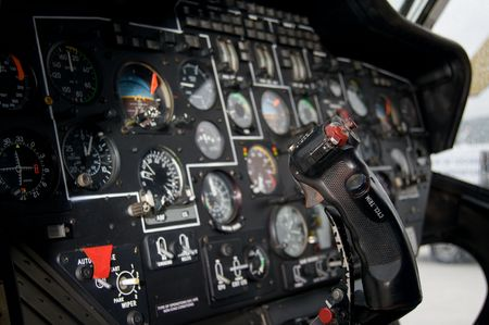 altimeter: Helicopter instrument and control panel