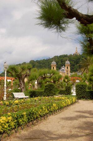 san sebastian: Alderdi-Eder Gardens in San Sebastian, Spain Stock Photo