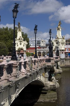 Maria Cristina bridge in San Sebastian, Guipuzcoa. Spain