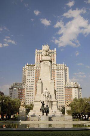 Plaza de Espa�a, Madrid, Monument Cervantes