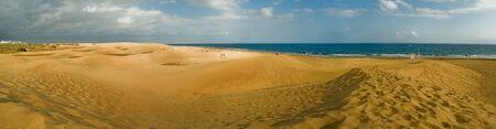 Panoramic view Maspalomas beach. Las Palmas de Gran Canaria. Spain