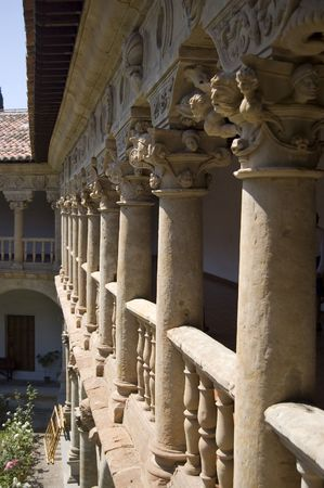 cloister: Gallery detail of the cloister in Las Due�as Convent. Salamanca, Spain