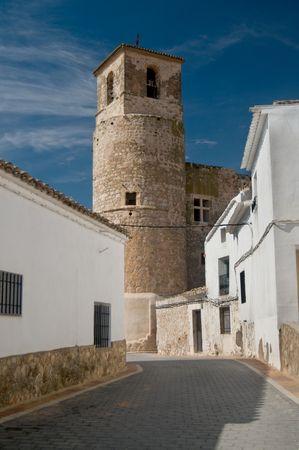 cuenca: Garcimu�oz Castle in Cuenca. Spain Stock Photo