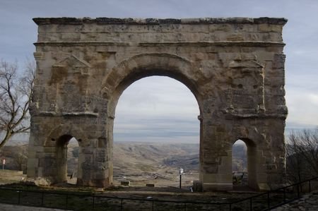 Medinaceli Arch Roman century II, Soria. Spain (Only in Spain of three holes)