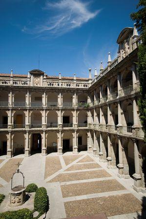 santo: Santo Tomas de Villanueva Cloister of Alcala de Henares University. (Herreriano Style) Alcala de Henares, Madrid, Spain