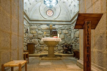 crypt: Baptismal Font. Inside of Crypt Baptistery Editorial