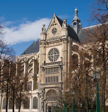 les: Saint Eustache Church in Les Halles, Paris. France. Stock Photo