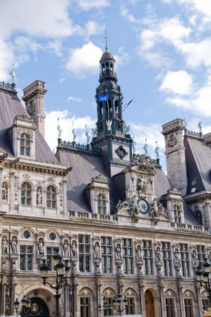 ville: Hotel de Ville in Paris, France. (City Hall) Stock Photo