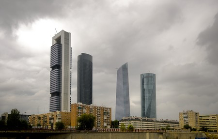 New Four Towers in Madrid�s Skyline, Madrid. Spain