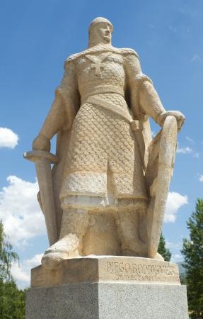 cid: Statue of Diego Rodriguez, the only son of Cid, Burgos, Castilla y Leon. Spain
