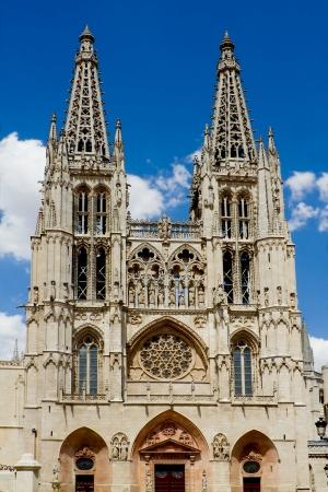 cara leon: Fachada Principal y la cara oeste de Burgos Catedral g�tica, Burgos, Castilla y Le�n. Espa�a