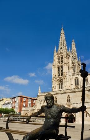 The South Face of Burgos Gothic Cathedral, Burgos, Castilla y Leon. Spain photo