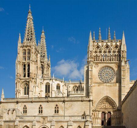 cara leon: Fachada del Sarmental en la cara sur de la catedral g�tica de Burgos, Burgos, Castilla y Le�n. Espa�a Foto de archivo