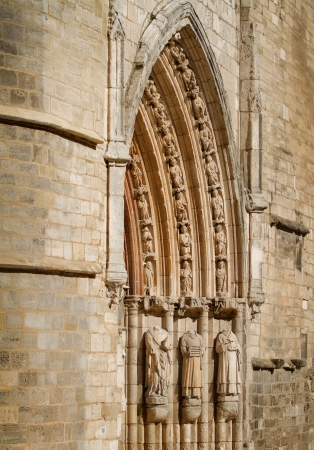 Detail of Tympanum in San Esteban Church, Burgos, Castilla y Leon. Spain Stock Photo - 14969262