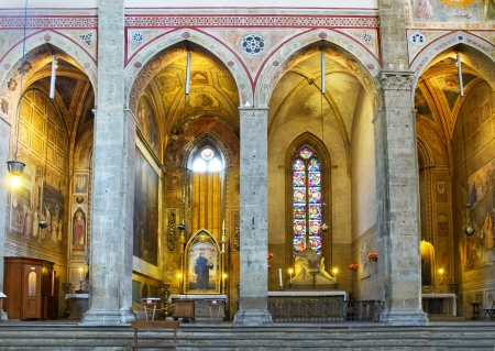 apses: Chapels in north transept apses of Basilica di Santa Croce  Florence, Italy Editorial
