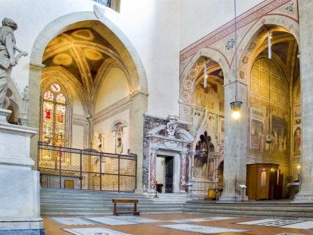 apses: Chapels of north transept of Basilica di Santa Croce  Florence, Italy Editorial