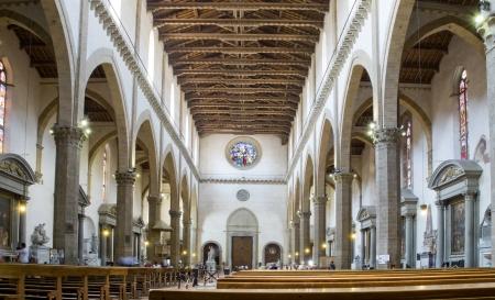 nave: Main nave of Basilica di Santa Croce  Florence, Italy