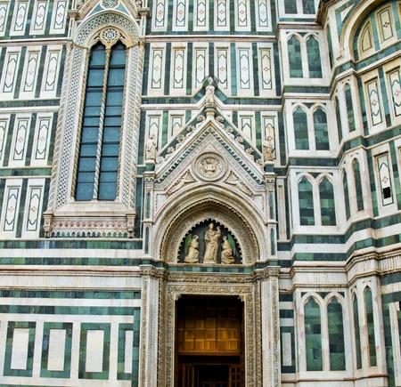 teatro antiguo: Lado sur de la catedral de Florencia, en la Ópera de Santa María del Fiore en Florencia, Italia