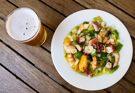 marisco: Salpicon de marisco   Shellfish salad  Typical spanish tapa